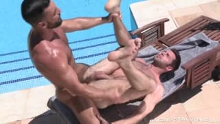 Abraham enjoys fucking with horny Dario
