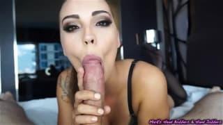 Sasha Foxxx sucks a dick very well