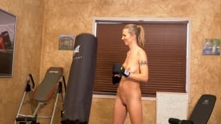 Alina Lubov masturbates naked in the gym