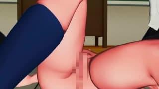 This young hentai slut gets a hot facial