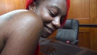 A compilation of black women taking big cocks