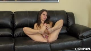 Violet Hill gets excited touching her pussy