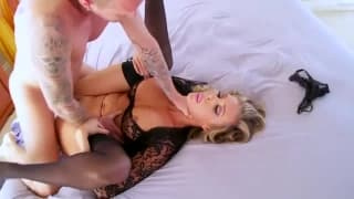 Samantha Saint gets her ass busted in lingerie