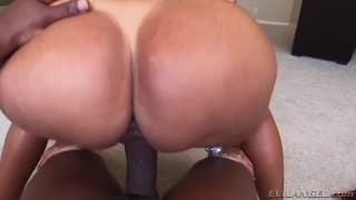 Kiara Mia goes crazy on a big cock POV