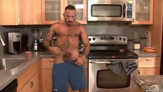 Alessio Romero grabs his dick and wanks
