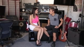 Valentina Nappi can't resist a guitar player