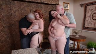 BBWs Mazzeratie Monica, Vanessa Group Sex