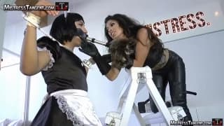 This intense lesbian BDSM scene is very kinky