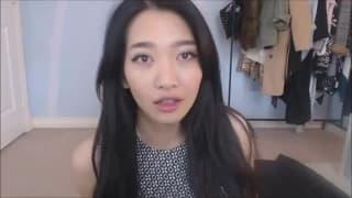 A cute Asian masturbating eagerly on webcam