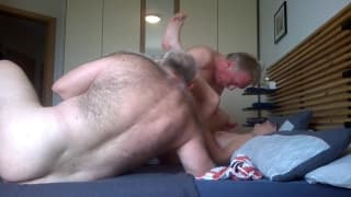 This bisexual threesome is an exciting one