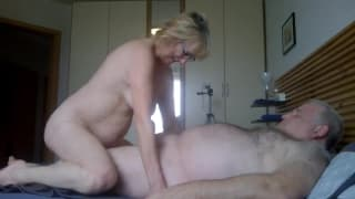 Two guy friends fuck the same slutty milf