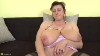 Several clips with horny mature women