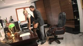 A dirty slutty secretary fucking her boss