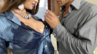 Lucky guy gets a threesome with his wife