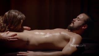 She wanks him off after a good massage