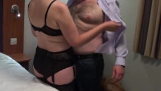 he loves to fuck her in her stockings