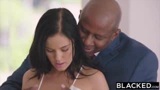 Two black executives for a brunette slut