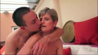 This Milf takes care of this hot man