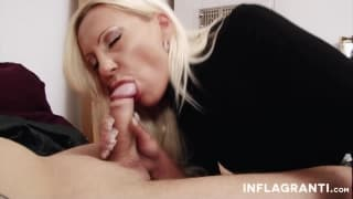 Blonde milf with big tits fucks like a whore