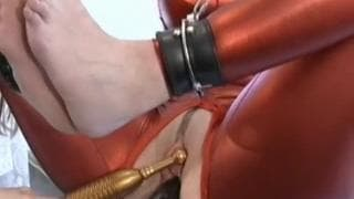 Woman is tied up and pleasured intensely