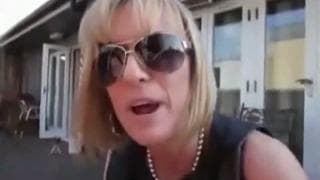 Blonde cougar sucks her man off until he cums