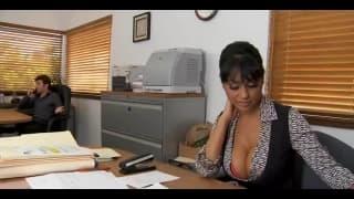 This sexy secretary gets her bonus today