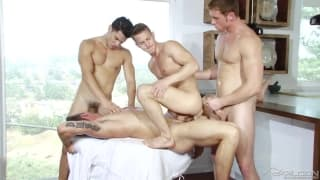 Four mates who all enjoy ass fucking and more