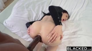 A big black dick making her moan loud