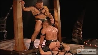 Four gay guys get each other horny here