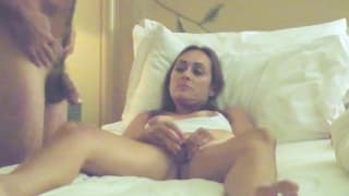 Shy wife fucks herself and rims stranger