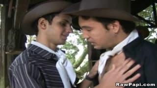 Horny Latino Gay Outdoor Bareback Fucked