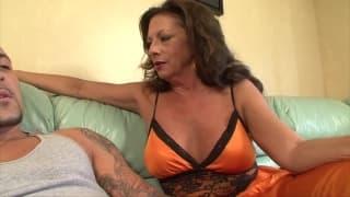 This milf will enjoy his young dick!