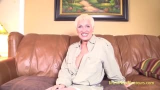 Busty Mature is ready for her casting