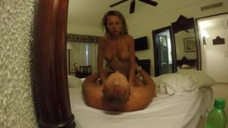 Hot blonde is banged by her husband