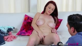 Jessica fingers her pussy in this casting