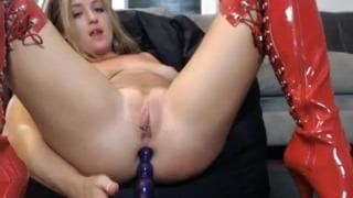 Busty ir play anal toy sex hard housewife
