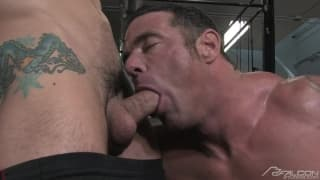 Jimmy Durano makes his man Mike Anders happy