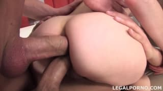 Gina gets double anal for the first time ever