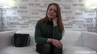 Russian girl Natalie interviewed with subtitles