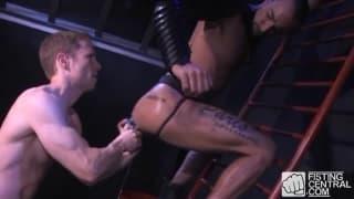 Billy puts a huge dildo inside Matthieu