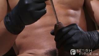 Armond Rizzo sticks a metal pole in his dick