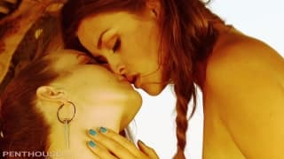Aliie Haze and Jenna Rose in alesbian session