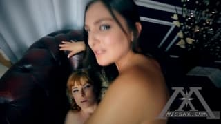 Lame ass video with two hot babes sharing one