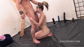 Beautiful Russian slut gets ass fucked