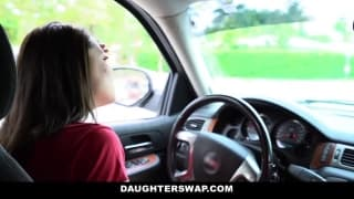 Dads swap daughters and fuck side by side