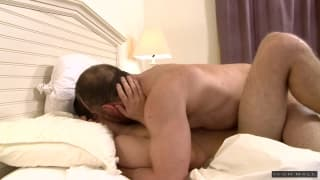 Max Sargent plays with his friend Josh Stone