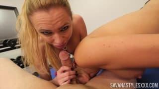 Briana banks and savana styles sucking cock