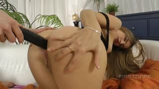 Casey has her first anal fuck and gape