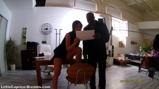 Little Caprice nailed by black stud