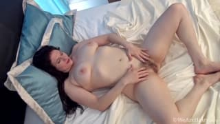 Brianna Green shows her hairy pussy for us